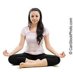 posa loto, yoga