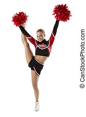 pose, cheerleader