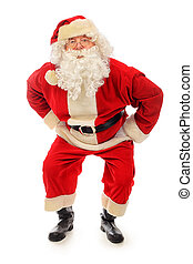 pose - Christmas theme: happy Santa Claus. Isolated over...