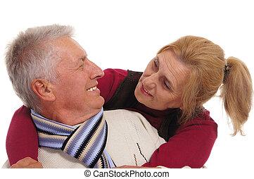 pose couples, personnes agées