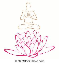 pose lotus, ioga