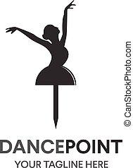 pose., persone, ballo, astratto, segno, disegno, template., ballerina, ballare ballet, concept., carattere, logo., corpo, simbolo, illustrazione, stilizzato, studio, fondo, bandiera, classe, icona, vettore, idoneità