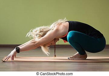 pose, yoga, guirlande