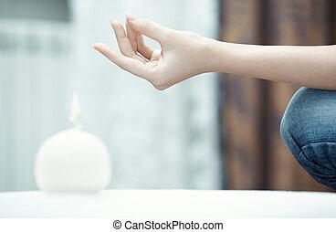 pose, yoga