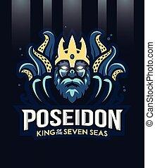 Poseidon greek god of the seven sea