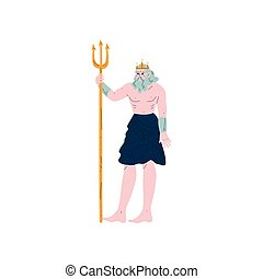 Poseidon Olympian Greek God, Ancient Greece Mythology Hero...