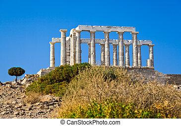 Poseidon Temple at Cape Sounion near Athens, Greece