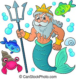 Poseidon theme illustration.