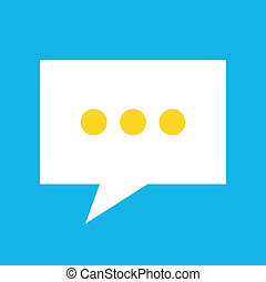 poselství, vektor, ikona
