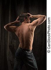 poses, сексуальный, человек, photo.