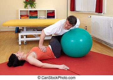poses, pratiquer, adulte, exercice