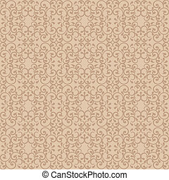 Posh Pattern in Beige - Fashionable seamless pattern in ...