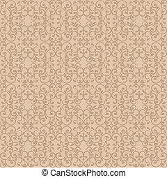 Posh Pattern in Beige - Fashionable seamless pattern in...