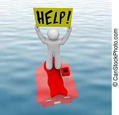 posição homem, ligado, submarinas, lar