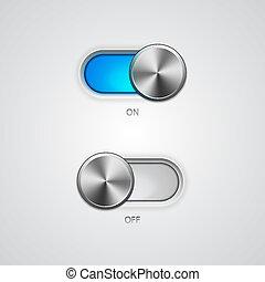 posição, interruptor, desligado, toggle