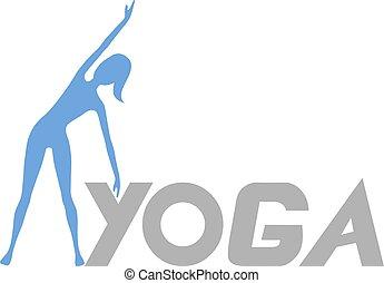 posição, ioga, ilustração
