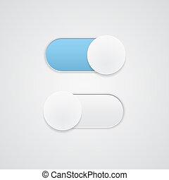 posição, toggle, desligado, interruptor