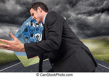 posi, image composée, homme affaires