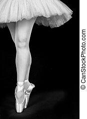 posición, ballet, dedos del pie, bailando, conversión,...
