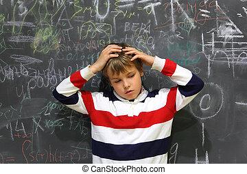 posición, cuerpo, escuela, el suyo, cabeza, cara, tabla,...