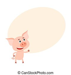 posición, divertido, poco, arriba, cerdo, mirar, dos, piernas