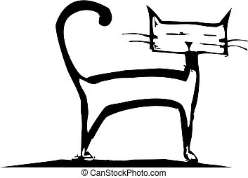 posición, gatito