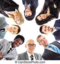 posición, grupo, empresa / negocio, grupo, gente, sonriente,...