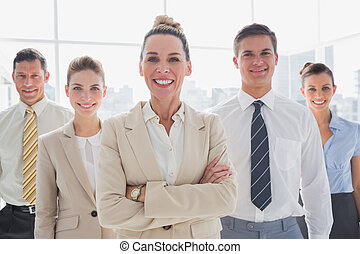 posición, grupo, empresa / negocio, juntos, equipo, sonriente
