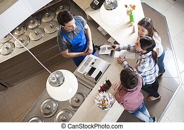 posición, mujer, nfc, familia , elaboración, tecnología, ...