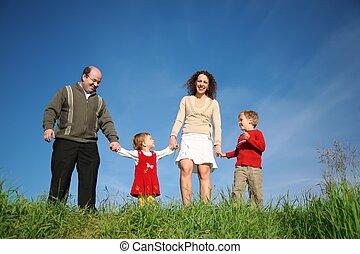 posición, padres, niño