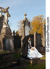 posiedzenie, na, niejaki, grób