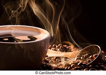 posiew, roasred, dym, kawa