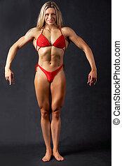 Posing bodybuilder