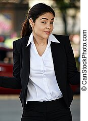 Posing Business Woman