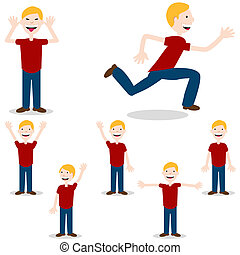 Posing Child - An image of a child in different poses.