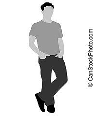 posing cool man