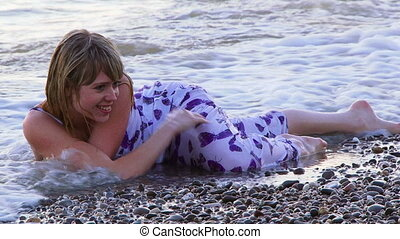 Posing in the sea