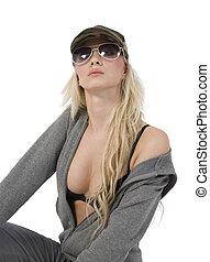 posing sexy caucasian model