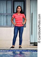Posing Teen Girl Standing
