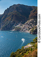 positano, -, amalfi costeiam, salerno, campania, itália