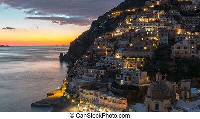 Positano, beautiful Mediterranean village on Amalfi Coast....