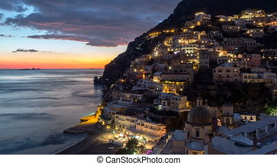Positano, beautiful Mediterranean village on Amalfi Coast....