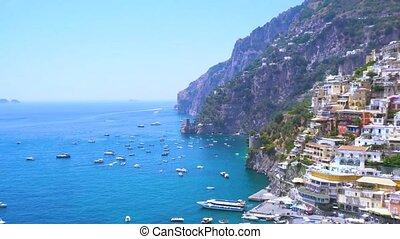 Positano resort, Italy - Positano coast - famous old italian...