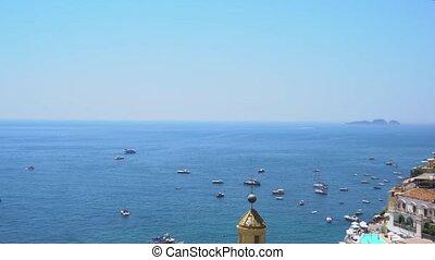 Positano resort, Italy - Positano coastal area - famous old...