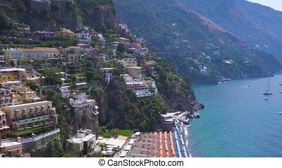 Positano resort, Italy - Positano cute houses on the rock -...