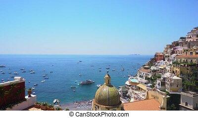 Positano resort, Italy - Positano harbour - famous old...
