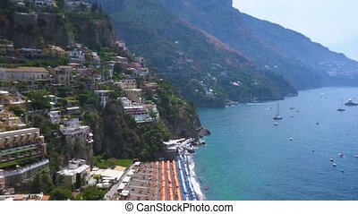 Positano resort, Italy - Positano houses on the rock -...