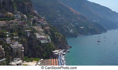 Positano resort, Italy - Positano houses on the rock getting...