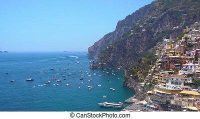 Positano resort, Italy - Positano town and Amalfitana coast...