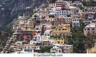 Positano resort, Italy - Positano town houses on the rock -...